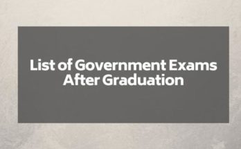 best-government-exams-after-graduation