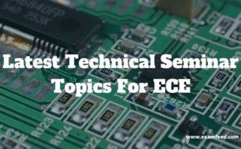 technical seminar topics for ece
