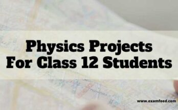 Physics Projects for Class 12
