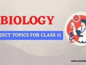biology projects for class 11