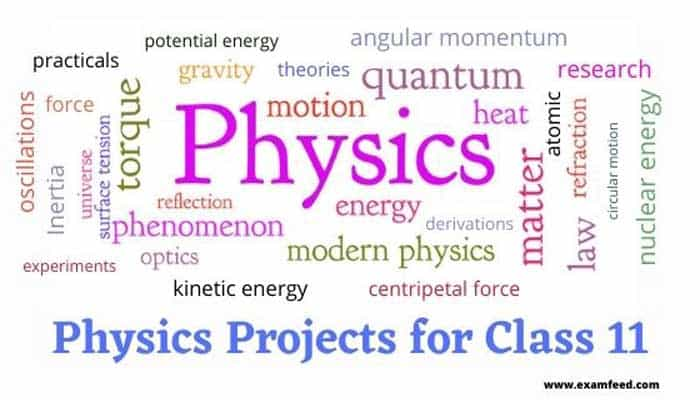 physics projects for class 11
